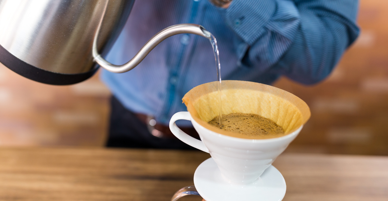 pouring hot brew coffee for you