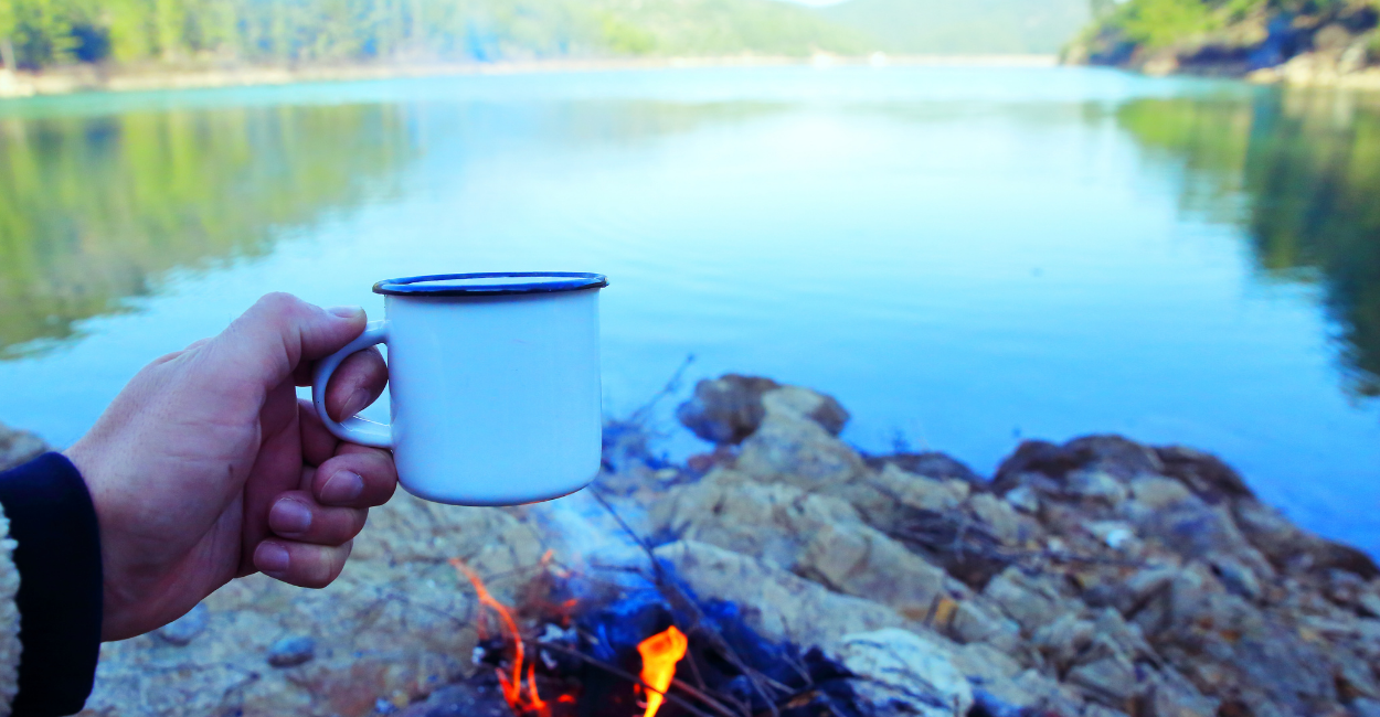 french press camping coffee