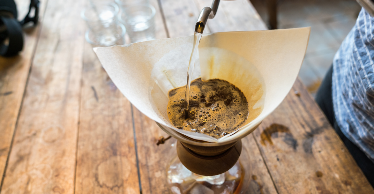 Coffee Filter using brown paper feature