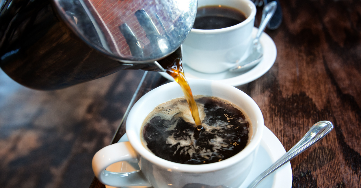 french pouring coffee